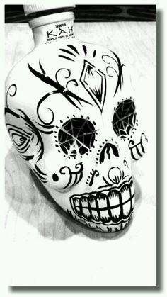 KAH: Skull Tequila Bottle.
