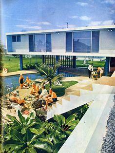 "Mid-Century Modern Freak | 1954Philip Hiss Residence (Studio Addition-built in 1962) | Architect: Bert Brosmith Edward ""Tim"" Seibert (with employee Carl Abbott) under Paul Rudolph | 1300 Westway Drive Lido Shores, Sarasota, FL - Via:"