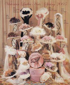 Fan Art of Victorian Hats for fans of Vintage. Victorian Tea Party, Victorian Hats, Victorian Women, Victorian Fashion, Vintage Dresses, Vintage Outfits, Retro, Tea Party Hats, Fancy Hats