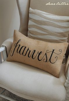 Harvest 12x20 Burlap Pillow Cover in Black - would be easy to make