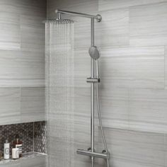 Large Round Head Thermostatic Exposed Shower Kit & Handheld - we changed the hand set to the other one pictured on the board Bathroom Taps, Basin Sink Bathroom, Shower Set, Sink Taps, Bathroom Decor, Shower Heads, Towel Radiator, Bathroom Fixtures, Bathroom