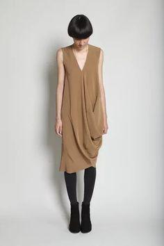 Zero + Maria Cornejo - Mulla Dress - Camel