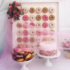 all i wanted for my party was a donut wall and it came out so freakin amazing #donutwall #californiadonuts