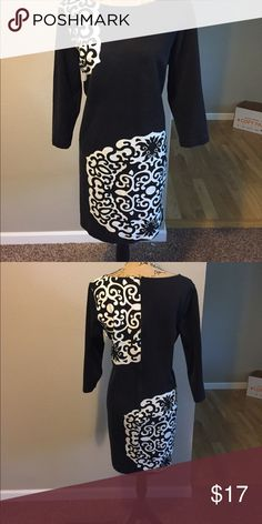 Ann Taylor Cotton dress size L Super soft 70% Cotton Ann Taylor dress size L. Can't go wrong with black and white! Pairs perfectly with tall boots!Just 2 bundled items gets you the 10% discount! I'm a fast shipper with products usually going out the next day, sometimes SAME DAY! Ann Taylor Dresses