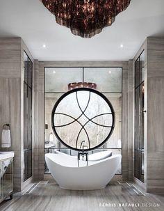 Master bathroom designed by Ferris Rafauli