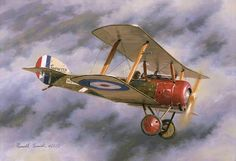 Red Nose Pup, by Russell Smith (Sopwith Pup) Aircraft - Aircraft art - Aircraft design - vintage Air Batalha Do Somme, Fighter Aircraft, Fighter Jets, Air Fighter, Zeppelin, Drones, Aircraft Painting, Air Festival, Aircraft Design