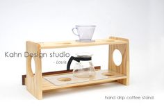 Pour over coffee stand/ Drip coffee stand ( ash )