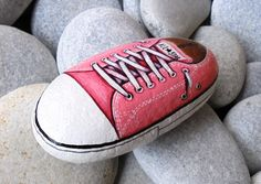 Pink All Star Handmade Painted Stone  by Lefteris Kanetis on https://www.facebook.com/L.kanetis.paintedstones