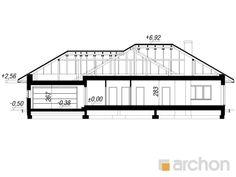 projekt Dom w alwach 2 (G2) przekroj budynku