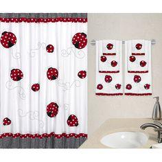 Genial Little Ladybug Cotton Shower Curtain. Bathrooms DecorKid ...