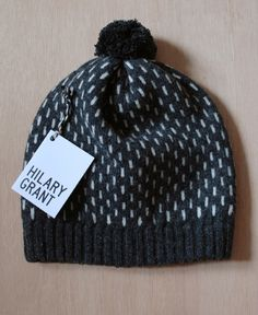 charcoal & putty dash hat by hilary grant