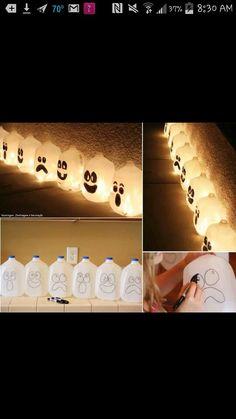 Glow stick Milk Carton Decorations