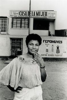 """ María Elena Moyano Delgado November 1960 – February was a Peruvian community organizer and activist of Afro-Peruvian descent who was assassinated by the maoist Shining Path (Sendero Luminoso) insurgent movement. Modern History, Black History, Emory Douglas, Afro, Women In History, Peru History, African Diaspora, Look At You, My People"