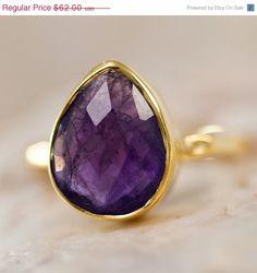 MOTHER'S DAY SALE   Purple Amethyst Ring  February by delezhen, $52.70 #delezhenp2w1
