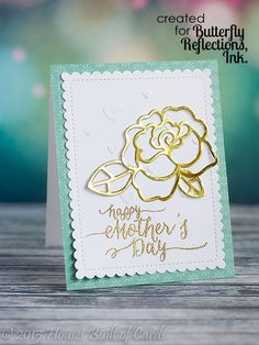 Houses Built of Cards: Gold Rose Mother's Day Card