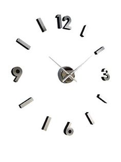 Self-Design-Modern-Contemporary-Abstract-Wall-Clock-18-Diameter-Adhesive-Number