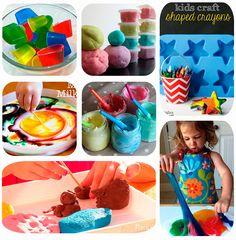 7 recetas de masas y pinturas caseras. Manualidades para niños: blandiblub, ceras multicolores, pinturas para baño, pintura de dedos, pintura mágica, plastilina casera y pasta de sal.