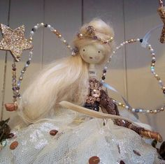 vintage christmas fairy // potting shed designs Christmas Tree Fairy, Christmas Makes, Christmas Angels, All Things Christmas, Xmas Tree, Handmade Christmas, Christmas Crafts, Vintage Christmas, Christmas Decorations