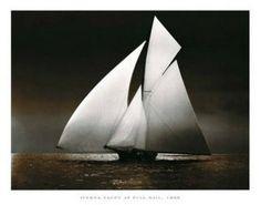 """SPT09152"" Iverna Yacht - Full Sail, 1895 (9 X 12)"