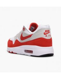 brand new 2fb4a 02430 Mens Nike Air Max 1 Ultra 2.0 Limited Edition Shoe White + University  Red Neutral