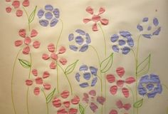 DIY Spring Flower Wrapping Paper