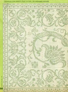 Filet Crochet Charts, Crochet Doily Patterns, Crochet Doilies, Cross Stitch Patterns, Crochet Curtains, Crochet Tablecloth, Tapestry Crochet, Mittens Pattern, Crochet Books