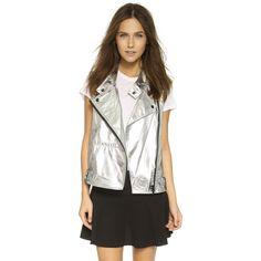 Rebecca Minkoff RM Active Metallic Vest (269 AUD) ❤ liked on Polyvore