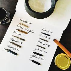 Part 2: my Brause and Gillott nibs #calligrafikas #grafikas #dreweuropeo #calligraphy #moderncalligraphy #dippen #nibs #inks #handmade #script #handwriting #typeveryday #thedailytype #typedaily #type #goodtype #handstrokes #handrawn #random #words #phrases #practice #curiouscalligrapher