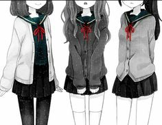 anime, manga, and kawaii imageの画像 3 Bffs, Best Frends, Anime School Girl, Anime Girls, Anime Stories, Concept Art Gallery, Vocaloid Cosplay, Best Friends Forever, Manga Girl