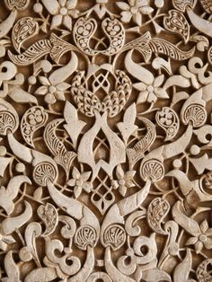 Detail, Palacio De Los Leones Sculpture, Nasrid Palaces, Alhambra, UNESCO World Heritage Site, Gran Lámina fotográfica