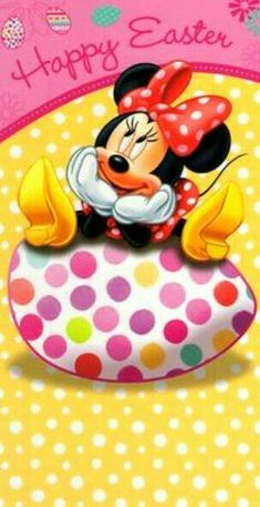Mickey Minnie Mouse, Mickey Mouse Cartoon, Mickey Mouse And Friends, Walt Disney, Disney Mickey, Disney Art, Easter Wallpaper, Holiday Wallpaper, Easter Story