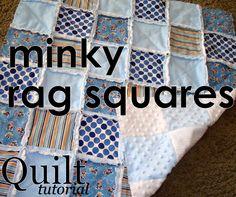 minky rag sqaures #quilt #tutorial