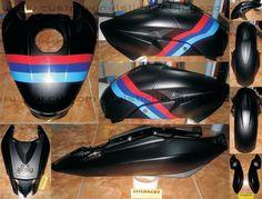 Kawasaki Bajaj 200NS Black - Custom Body Wrapp & S...