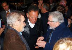Bruce Springsteen with Spielberg and Robert De Niro