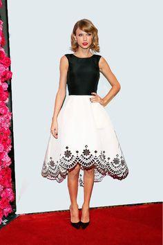 Taylor Swift en Oscar de la Renta, durante los 2014 Billboard Women In Music Luncheon en Nueva York.