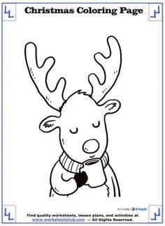 Color Cute Winter Animals In Scarfs Gingerbread Men Reindeer And More With These Printable Christmas Coloring Pages