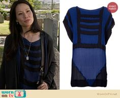 Elementary Fashion: Bernhard Willhelm Taylor Geometric Tshirt worn by Lucy Liu