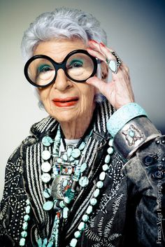 A dream, an inspiration... the lovely Iris Apfel.