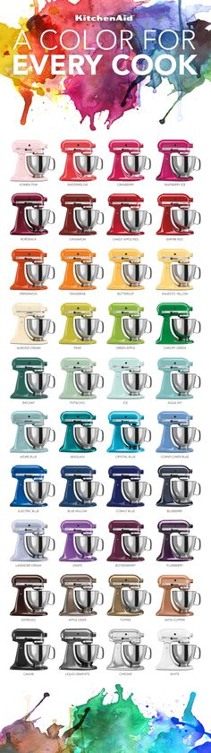The Colorful World of KitchenAid® Stand Mixers | An Infographic #KitchenAid #Infographic #StandMixer