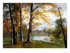Um lago tranquilo Impressão giclée