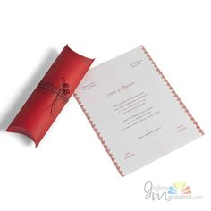 Invitación de boda pergamino en caja