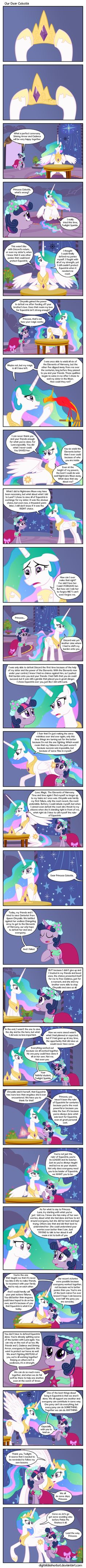 Twilight sparkle giving Princess Celestia some VERY inspiring advise <3 Yes it is long, but it is very good advise, & is very sweet :)
