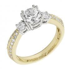 Gottlieb and Sons Engagement Ring Featuring 34 Round Brilliant Diamonds With 0.51ctw In White Gold  $1,908.00