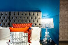 Flemings Hotel, Mayfair - gray headboard?
