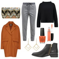 OneOutfitPerDay 2017-01-24 - #ootd #outfit #fashion #oneoutfitperday #fashionblogger #fashionbloggerde #frauenoutfit #herbstoutfit - Frauen Outfit Frühlings Outfit Outfit des Tages Winter Outfit Ankle Becksöndergaard Bluse Boot Braun Clutch EDITED the label Gold Lippenstift MAC Mango O.P.I Ohrringe someday. Stoffhose TomShot van Laack Wollmantel Zign