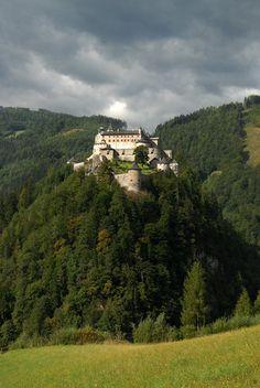 The hilltop castle of Werfen, Austria