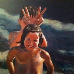 """Farceur"" - Acrylic on canvas 50x50- Antoine Renault 2012 - http://antoinerenault.com/    http://www.facebook.com/AntoineRenault"