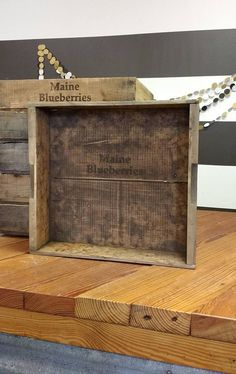 Wooden Blueberry Crate Vintage Maine Blueberries Crate