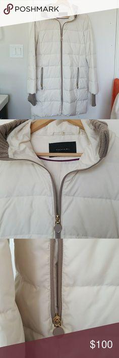 Tahari beige puffer coat Tahari beige puffer coat. Never worn Tahari Jackets & Coats