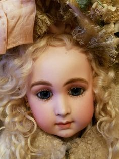 """25"""" GORGEOUS ANTIQUE FRENCH TRISTE LONG FACE JUMEAU BEBE DOLL w/restoration in    eBay!"""